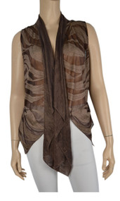 Pretty Angel Coffee & Brown Silk Blend Vest