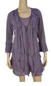 Pretty Angel Mauve Lace Layered Tunic Plus