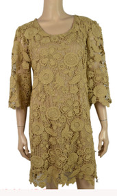 Brown Crochet Linen - Blend Tunic