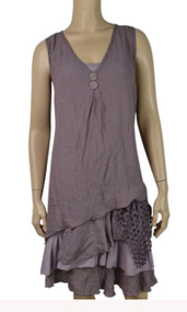 pretty angel Mauve Boho Dress Set