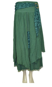 pretty angel Teal Buckle Skirt