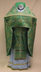 Russian Priest's Vestments: Green #6 - 46-48/145