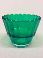 Green Votive Glass