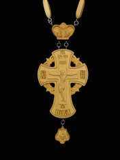 Wood Jeweled Cross #4