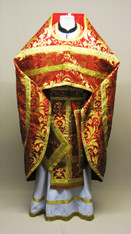 Russian Priest's Vestments: Red #10 - 54/150cm
