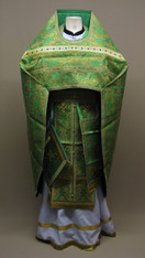 Russian Priest's Vestments: Green #10 - 52/145 cm