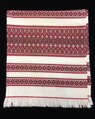 Embroidered Towel (Rushnyk) - Red #1