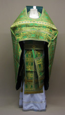 Russian Priest's Vestments: Green #13 - 52/150 cm