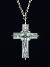 Silver Reliquary Cross - A