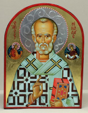 St. Nicholas the Wonderworker Icon (Mounted)