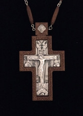 Wood Pectoral Cross #7