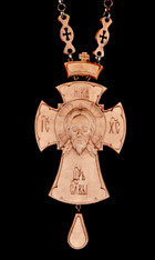 Wooden Jeweled Pectoral Cross