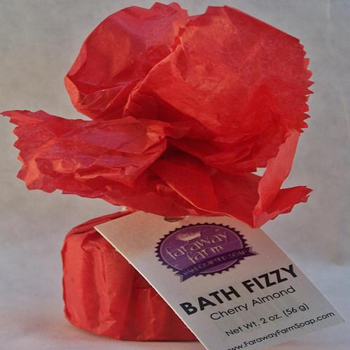 Cherry Almond Bath Fizzy wrapped
