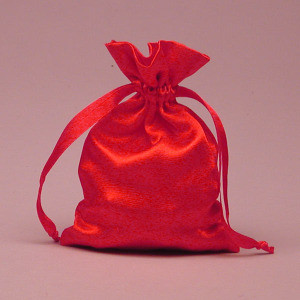 Red Satin Bag 3x4""