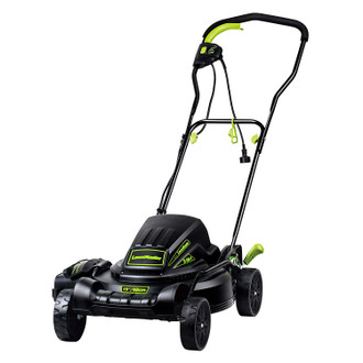 Electric 2-in-1 Lawn Mower, 18 Inch