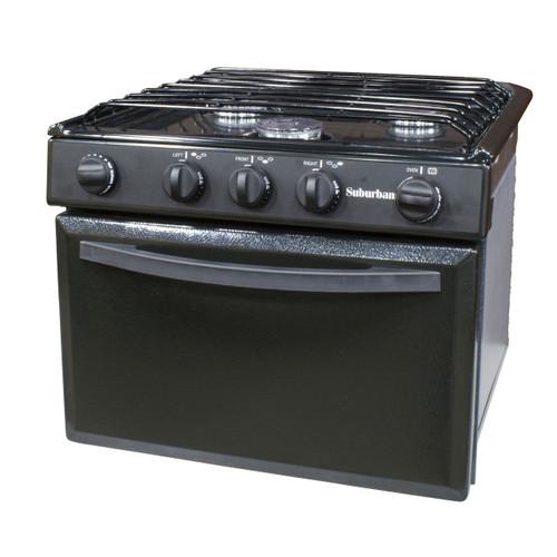 Suburban 3106A 17 in Range Conventional Burner Black Piezo Ignition