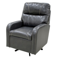 Black with White Trim Swivel Chair