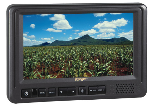 """Voyager 7"""" Rear View Monitor with 3 Camera Inputs"""