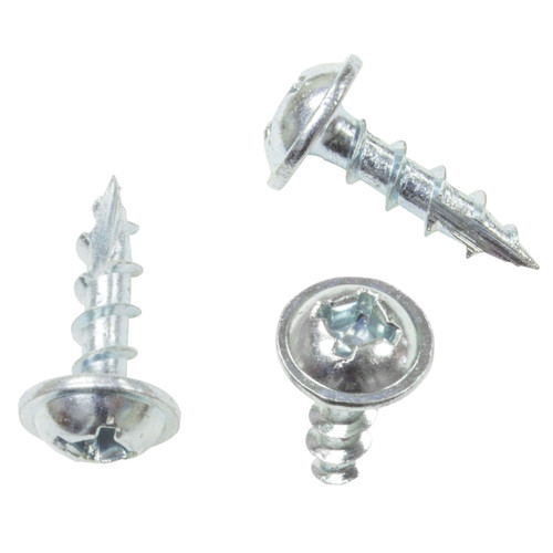 8x3/4 Philips Round Washer Square Head Zinc RV Screws