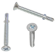 """12-14x2"""" Phillips Flat Head Self Drilling Screws with Wings"""