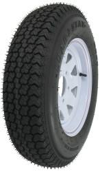 "Kenda Loadstar ST175/80D13 Bias Trailer Tire 13"" White Wheel 5 on 4-1/2"