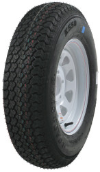 Kenda Loadstar ST205/75D14 Five Spoke Trailer Tire White Wheel