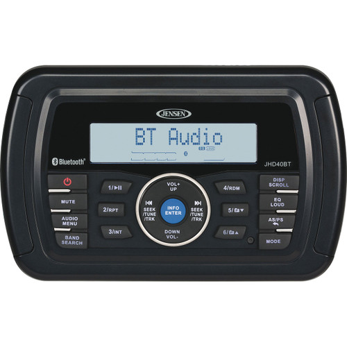 Jensen Heavy Duty Stereo with Bluetooth