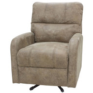 "28"" Smoked Tan Swivel Chair"