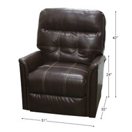 Rocking/Swivel Recliner Saddle