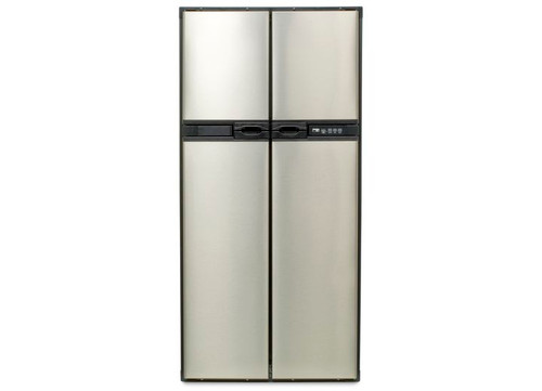 RV REFRIGERATOR 2-WAY, SIDE BY SIDE 4 DOOR  FLUSH MOUNT W/STAINLESS STEEL DOORS, 12 CUBIC FT NORCOLD