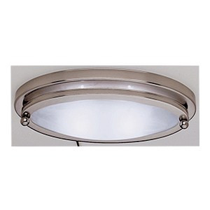 "10"" Low Profile Oval Light Satin Nickel"
