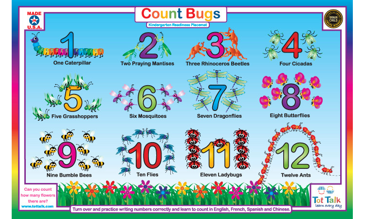 Count Bugs Placemat Tottalk