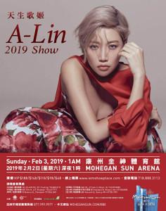 天生歌姬 A-Lin 2019 Mohegan Sun Poster