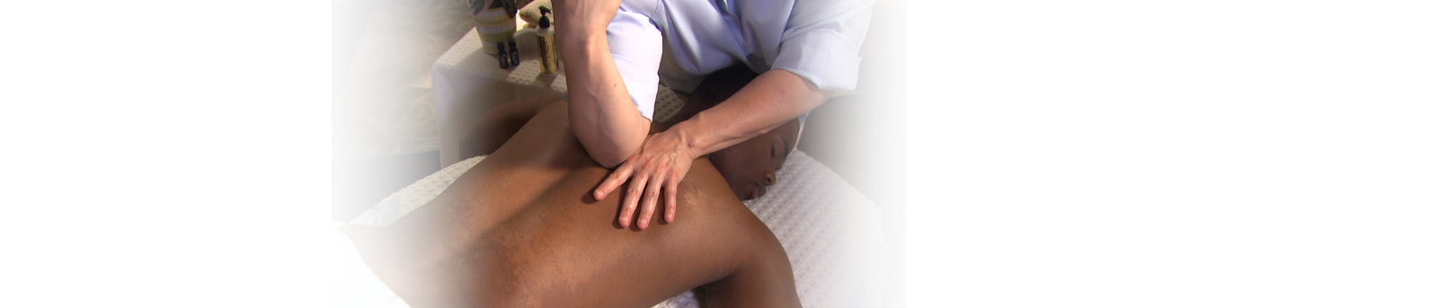 man receiving massage to back
