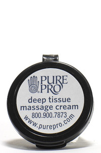 Deep Tissue Massage Cream™, Half oz, (sample/travel size) - Pure Pro: Quality, Professional Massage Products, Esthetician, Chiropractic, Alternative Health and Physical Therapy supplies from Massachusetts.