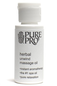 Herbal Unwind Massage Oil™ - Pure Pro: Quality, Professional Massage Products, Esthetician, Aromatherapy, Chiropractic, Alternative Health and Physical Therapy Supplies from Massachusetts.