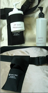 FREE SHIPPING! 2 PACK - Multi Holster For Cream, Lotion & Oil, (Black) includes Empty 8 oz Pump Bottle (Cream Jar Sold Separately)