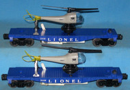 3419 Flatcar with Helicopter: Set of Two (Var)