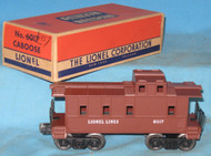 6017 Lionel Lines Caboose: Molded Brown (8/OB)