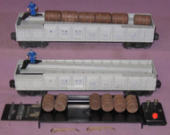 3562-25 A.T. & S.F. Oper. Barrel Car: Set Of Two (7+)