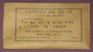 OC-18 O Gauge Track Pins (NOS)