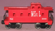6059 M. & St. L. Caboose: Molded Red (9)