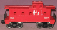 6059 M. & St. L. Caboose: Molded Red (7+)