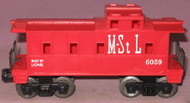 6059 M. & St. L. Caboose: Molded Red (NOS)