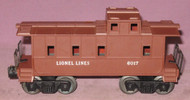 6017 Lionel Lines Caboose: Painted Brown (7+)