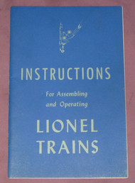 1946 Instructions For Assembling and Operating Lionel Trains (8+)