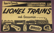 1953 How To Operate Lionel Trains & Accessories: Yellow Cover (7=)