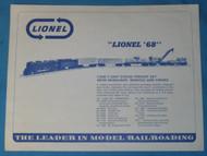 1968 Advance Product Sheet (8+)