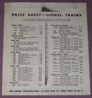 1946 Lionel Price Sheet (8)