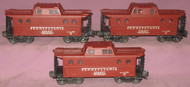 6417 Pennsylvania N5C Caboose: Set of Three (7 to 7++)